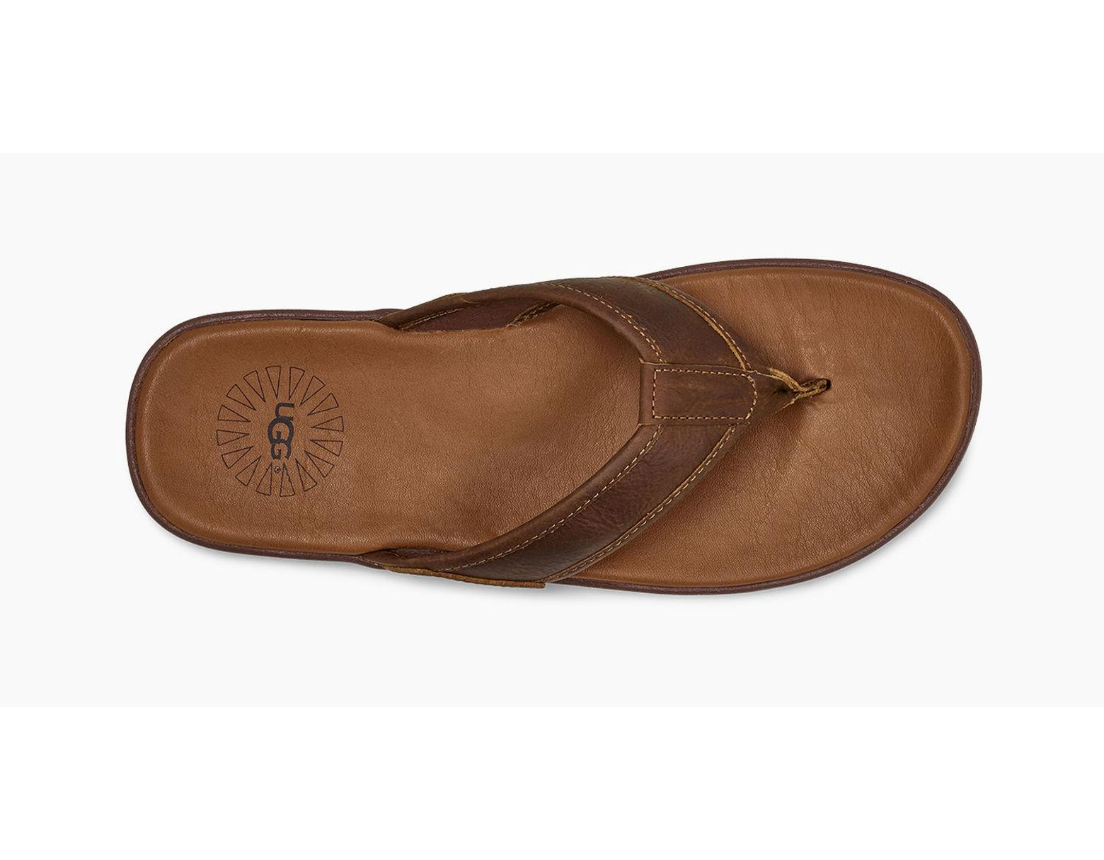 e3aeaf6784b1ba UGG Men's Seaside Leather Flip Flop in Brown for Men - Lyst