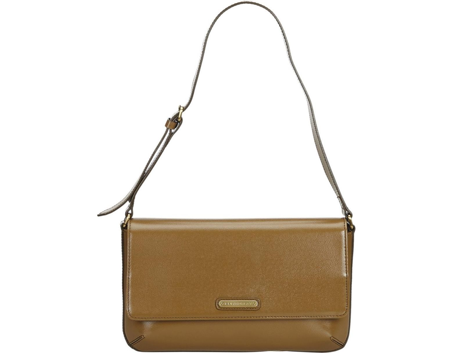 99756f79f51 Burberry Brown Leather Handbag in Brown - Lyst