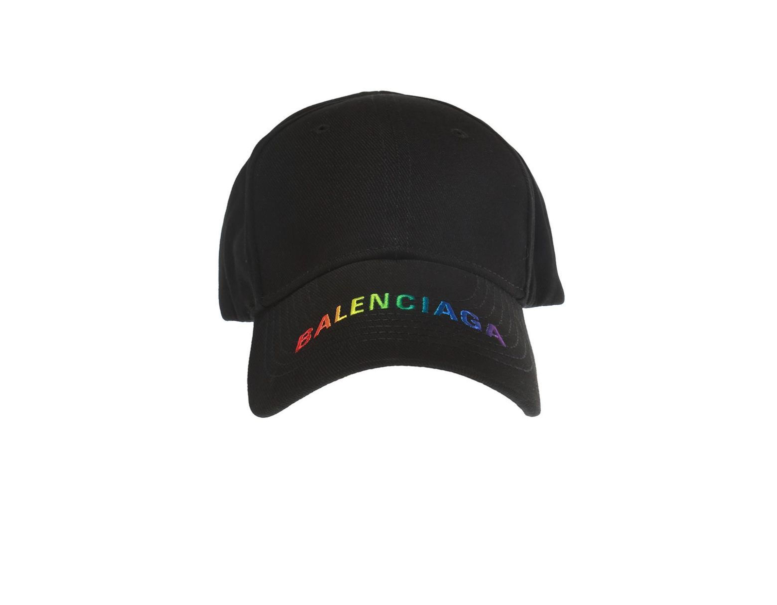 97128e4a Balenciaga Rainbow Cap in Black - Save 30% - Lyst