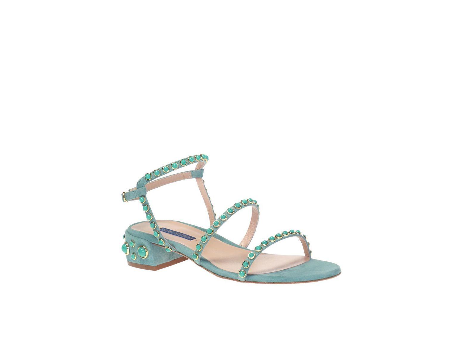 Lyst Weitzman In 'pernille' Sandals Stuart Embellished Blue CQBWdrxoe