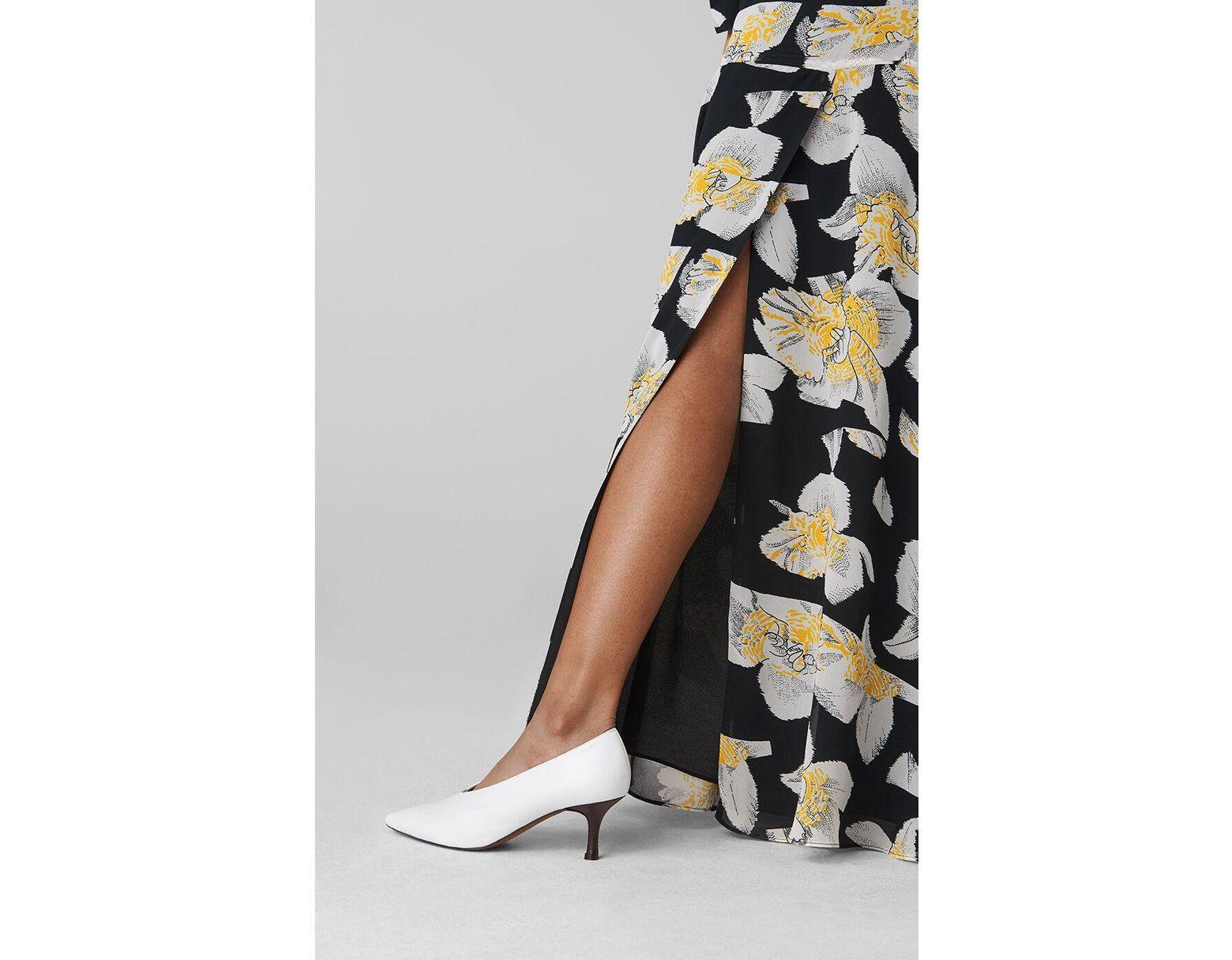 0eb9212f2 Whistles Rika Floral Silk Maxi Skirt - Lyst