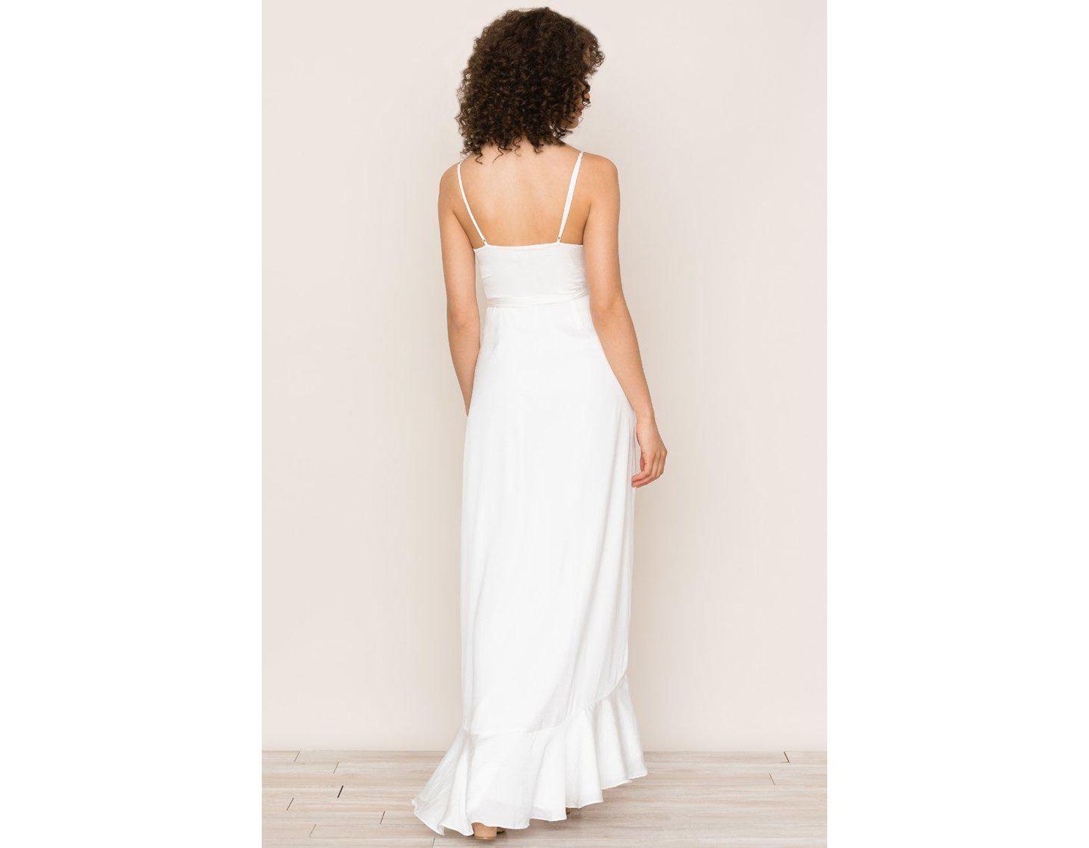 5ccdb07721 Yumi Kim Cross Roads Maxi Dress in White - Lyst