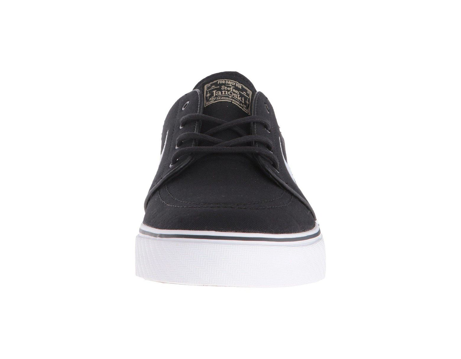 detailed look 773a8 54e77 Nike Zoom Stefan Janoski Canvas (dark Grey/gum Light Brown/metallic Gold  Star/white) Men's Skate Shoes in Brown for Men - Lyst