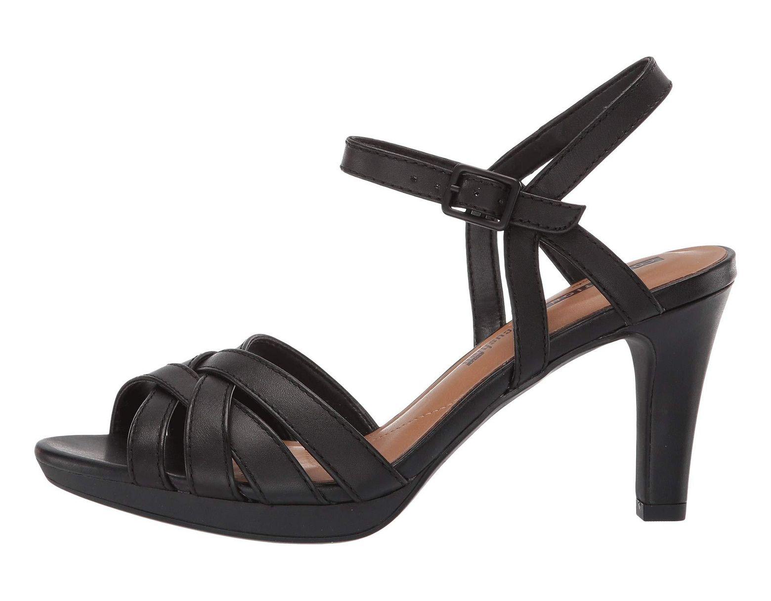5bee9ee78204 Lyst - Clarks Adriel Wavy (black Leather) High Heels in Black