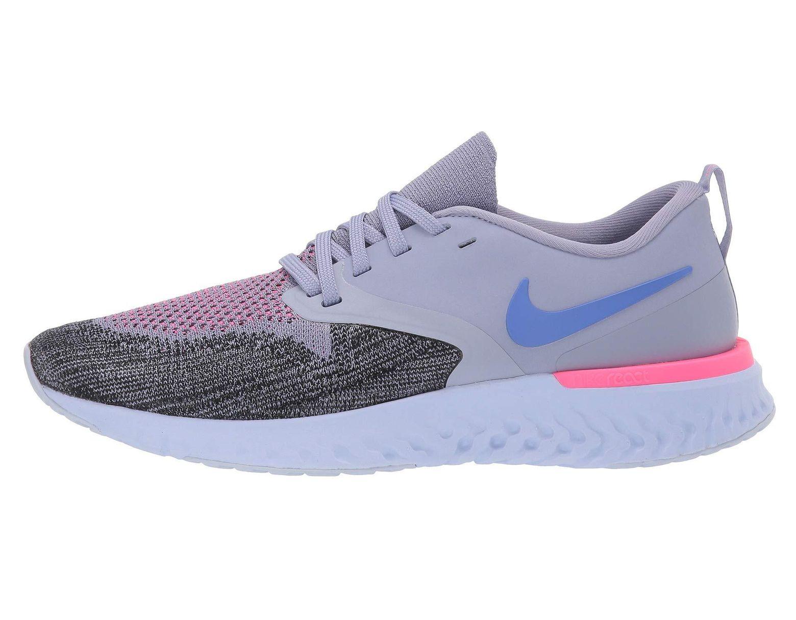63b36ca8c3393 Lyst - Nike Odyssey React Flyknit 2 (black black hyper Jade ember Glow)  Women s Running Shoes in Purple