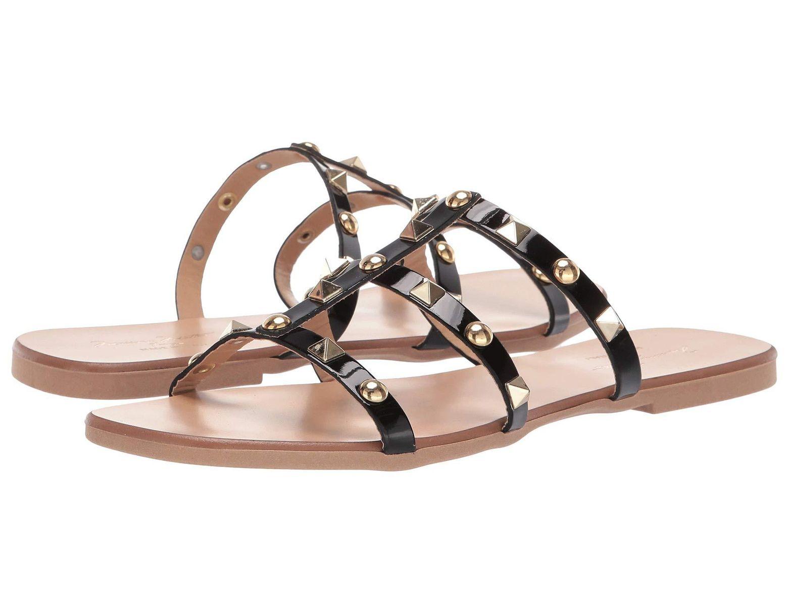 Black Women's Sandal Black Sandal With Women's Studs PkwlOiuXZT