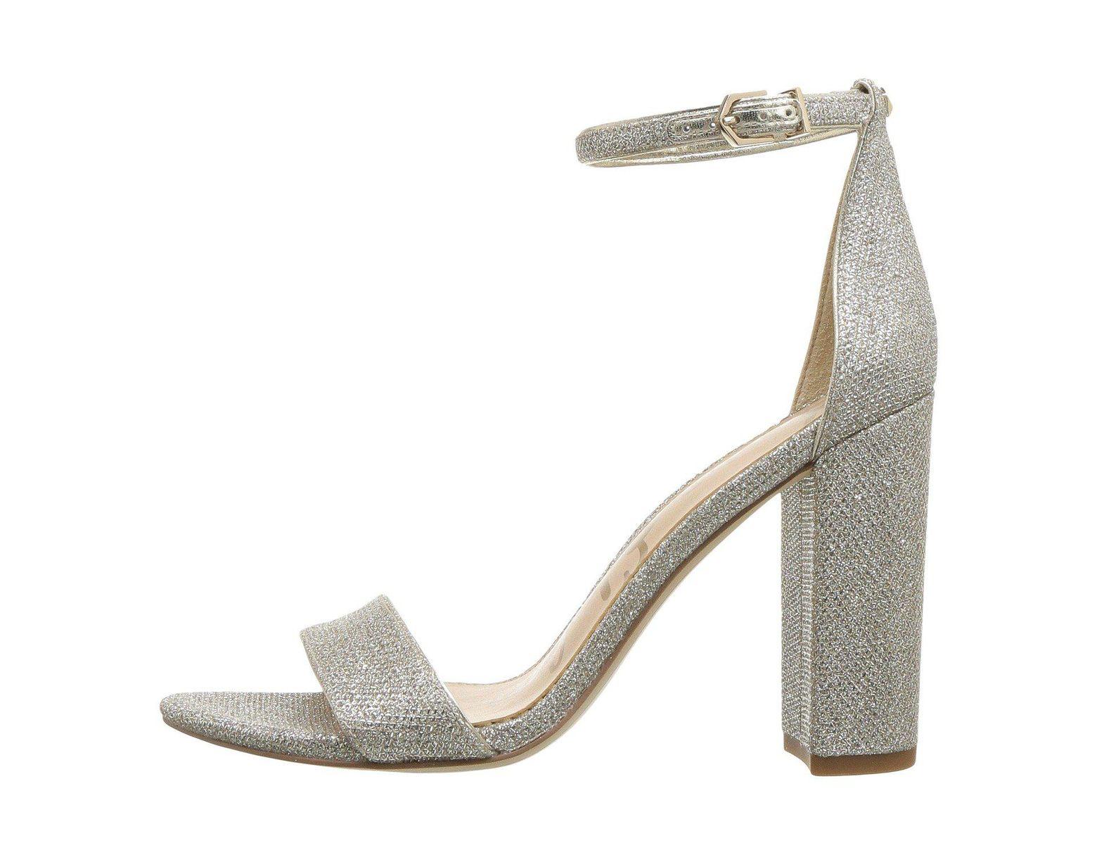 780d27a09 Lyst - Sam Edelman Yaro Ankle Strap Sandal Heel (jute) Women s Dress Sandals  in Natural
