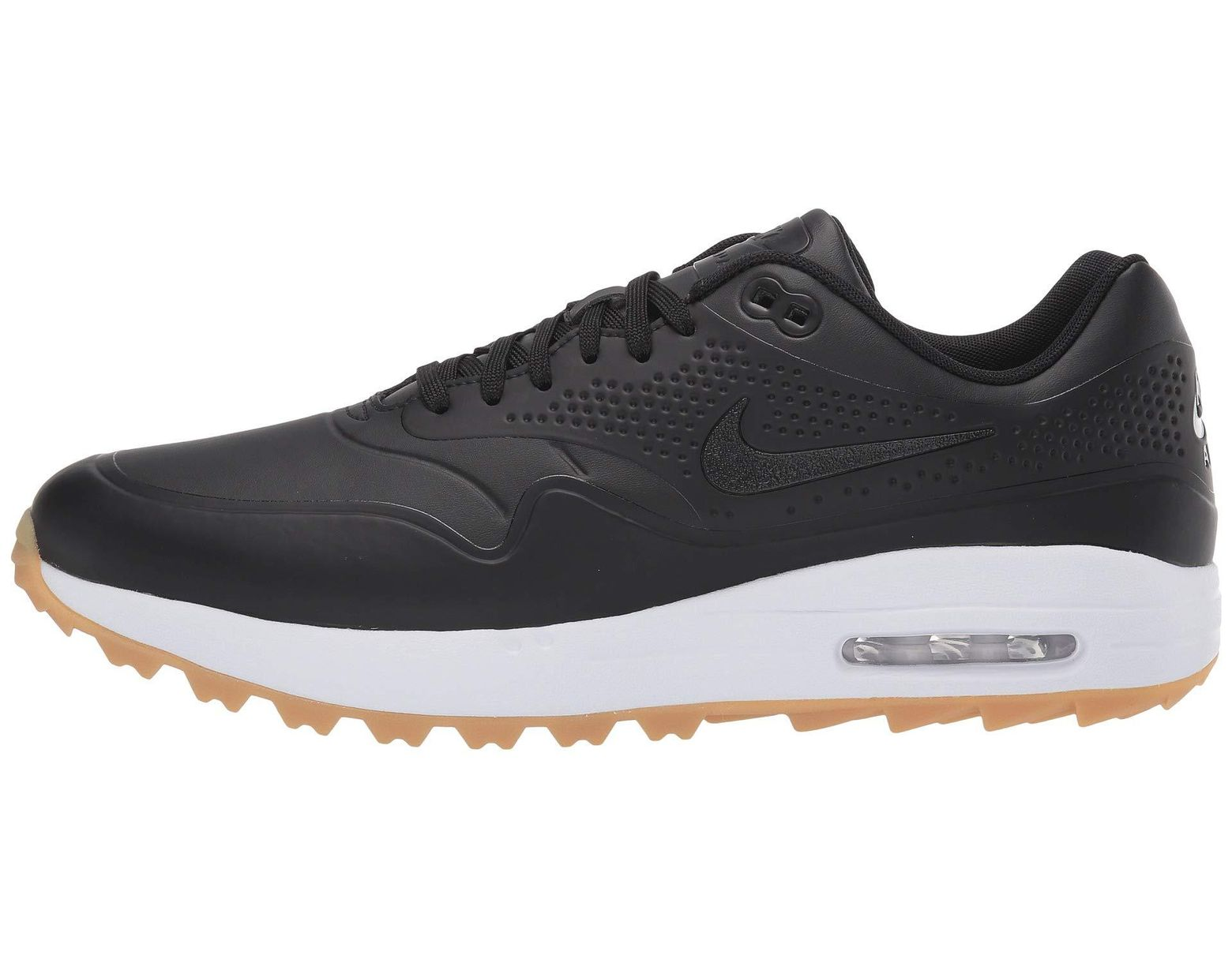 64b9af3380415 Lyst - Nike Air Max 1g Faux Leather And Rubber Golf Shoes in Black .