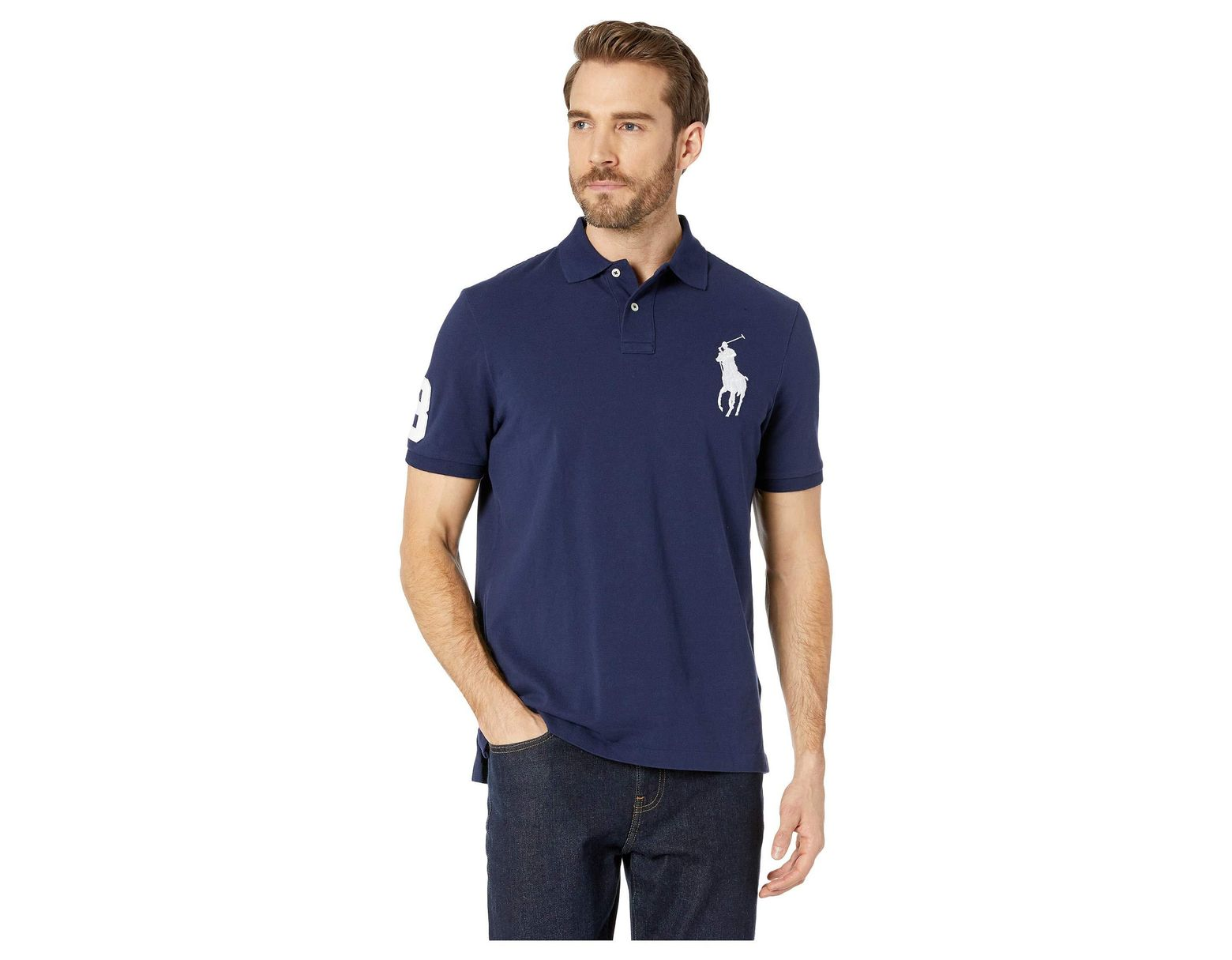 f073e033f49 Polo Ralph Lauren Basic Mesh Short Sleeve Big Pony Classic Fit Knit  (andover Heather) Men's Clothing in Blue for Men - Lyst