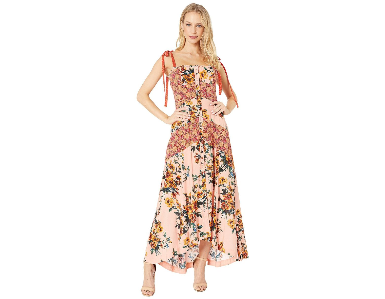 e857412bb82 Free People Lover Boy Maxi Dress (red Combo) Women s Dress in Red - Lyst