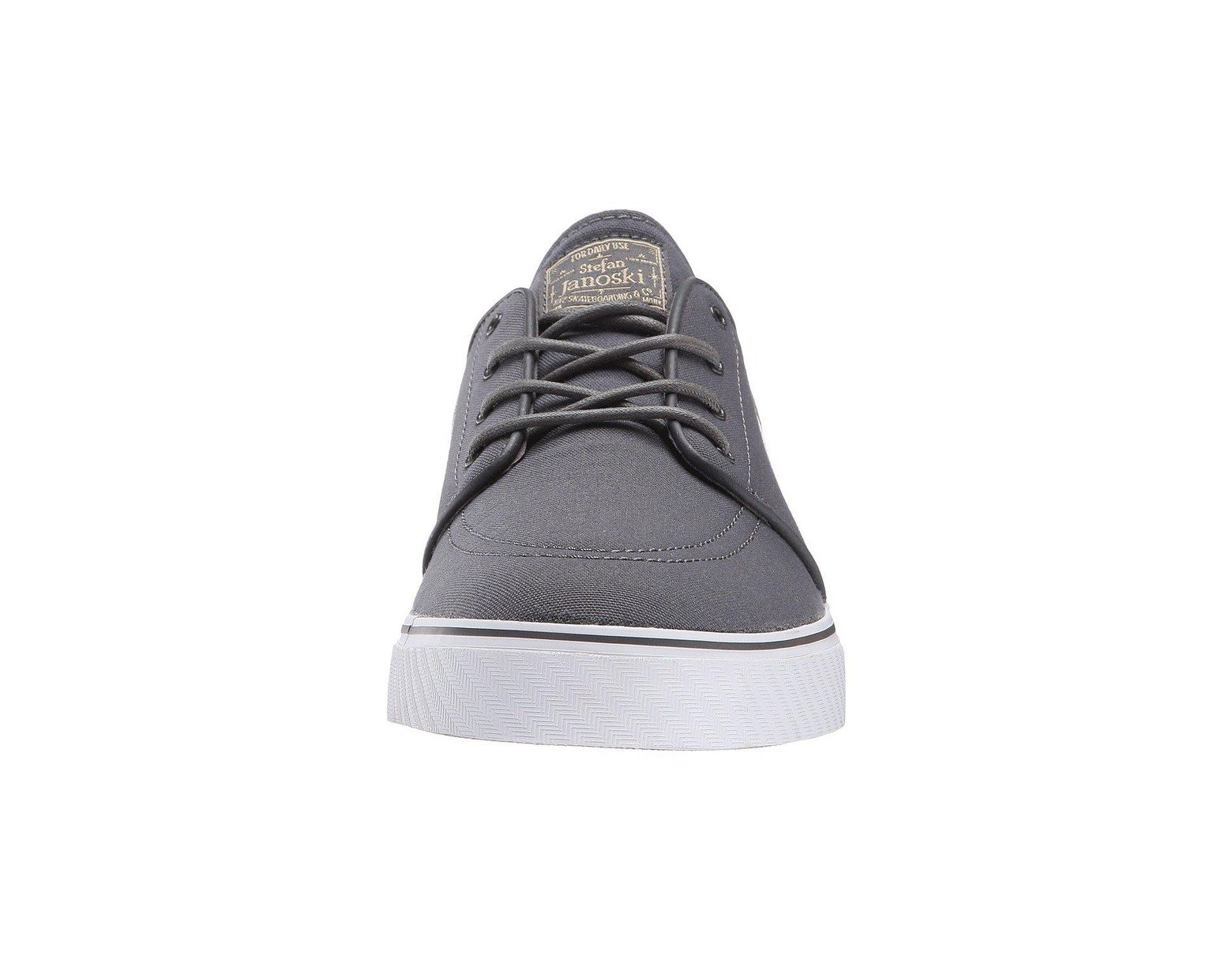 quality design 644d0 088d0 Nike Zoom Stefan Janoski Canvas (dark Grey gum Light Brown metallic Gold  Star white) Men s Skate Shoes in Gray for Men - Lyst