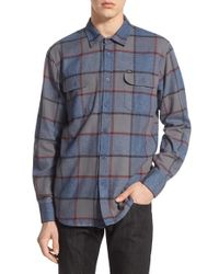 Obey Blue 'belmont' Check Flannel Shirt for men