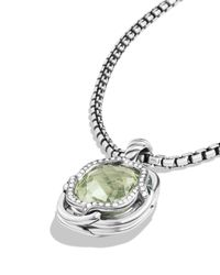David Yurman | Metallic Labyrinth Small Pendant With Prasiolite | Lyst