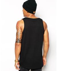 ASOS | Black Longline Vest With Purity Ring Print And Skater Fit for Men | Lyst