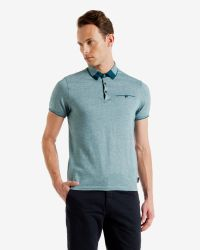 Ted Baker | Blue Color Block Oxford Polo Shirt for Men | Lyst