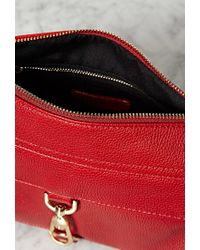 Forever 21 - Red Faux Leather Crossbody You've Been Added To The Waitlist - Lyst