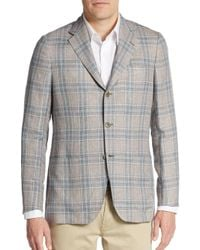 Kiton - Natural Regular-fit Glen Plaid Cashmere-blend Sportcoat for Men - Lyst