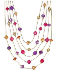Style & Co. - Metallic Gold-tone Multicolor Bead Illusion Necklace - Lyst