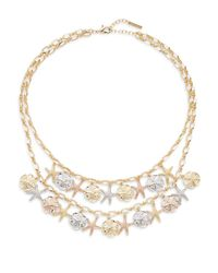 Saks Fifth Avenue | Metallic Mixed-metal Starfish Bib Necklace | Lyst