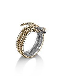 John Hardy | Metallic Legends Cobra Head Double Coil Bracelet | Lyst