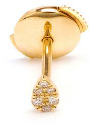 Yvonne Léon | Metallic 18kt Gold And Pavé Diamond Stud Earring | Lyst