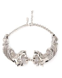 Roberto Cavalli - Metallic Horses Necklace - Lyst