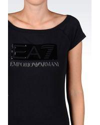 EA7 - Black Short Sleeved T-shirt - Lyst