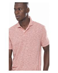 Express - Red Twisted Slub Polo for Men - Lyst