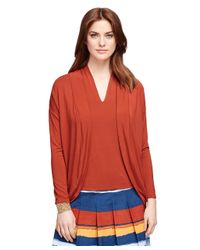 Brooks Brothers - Orange Jersey Knit Bolero Cardigan - Lyst