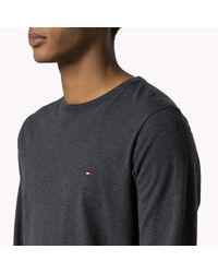 Tommy Hilfiger - Gray Flag Long Sleeve T-shirt for Men - Lyst
