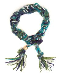 The Elder Statesman | Green Cashmere Bracelet | Lyst