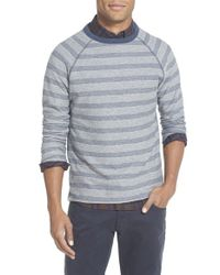 Billy Reid | Gray 'indian' Trim Fit Stripe Crewneck Sweatshirt for Men | Lyst