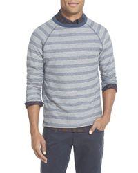 Billy Reid | Gray 'indian' Trim Fit Stripe Crewneck Sweatshirt for Men | Lyst