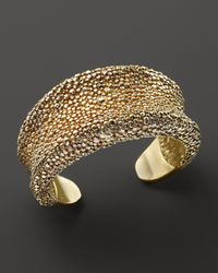 Roberto Coin | Metallic 18k Yellow Gold Plated Sterling Silver Stingray Wide Concave Cuff | Lyst