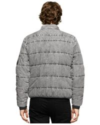 Calvin Klein Jeans | Gray Quilted Full-zip Stand-collar Bomber Jacket for Men | Lyst