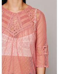 Free People | Pink Modern Romance Top | Lyst