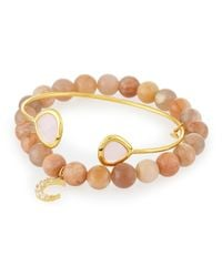 Tai - Pink Set Of Two Bracelets - Lyst