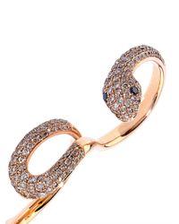 Elise Dray - Diamond & Pink-Gold Serpentine Ring - Lyst