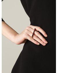 Eddie Borgo - Metallic Set Crystal Two Finger Ring - Lyst