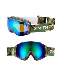 Smith Optics | Green 'i/o' 185mm Snow Goggles - Disruption for Men | Lyst