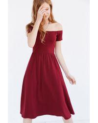dd21b572fd8a Lyst - Kimchi Blue Off-the-shoulder Midi Dress in Purple