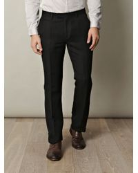 John Varvatos | Black Wool-blend Trousers for Men | Lyst