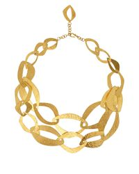 Herve Van Der Straeten | Metallic Goldplated Multi Layer Necklace | Lyst