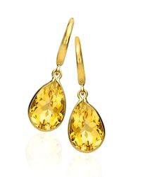 Kiki McDonough | Yellow Eternal 18k Gold Citrine Peardrop Earrings | Lyst