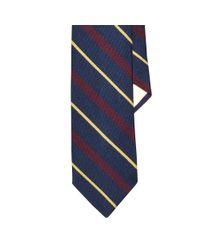Polo Ralph Lauren | Black Striped Wool-silk Narrow Tie for Men | Lyst