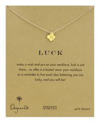 Dogeared | Metallic Four Leaf Clover Charm Necklace | Lyst