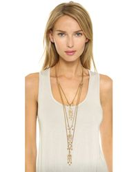 Ben-Amun | Metallic Dreamcatcher Layered Necklace - Gold | Lyst