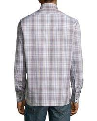 Ike Behar - Natural Check Sport Shirt for Men - Lyst