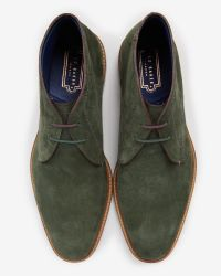 Ted Baker | Green Suede Ankle Boots for Men | Lyst