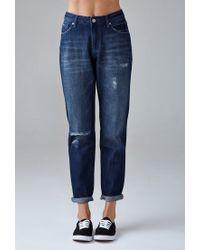 Forever 21 - Blue Girlfriend Jeans - Lyst